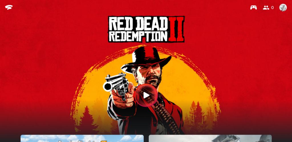 Google Stadia: So sieht der Startbildschirm mit der Übersicht aller gekauften Spiele aus.